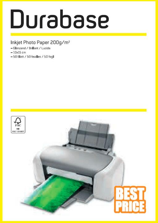 Inkjet Photo Paper 10x15 200g Durabase 796074700000 Bild Nr. 1