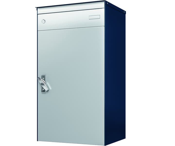 Boîtes-aux-lettres avec casier verroillable pour colis s:box 17 bleu saphir/alu Stebler 604029300000 Photo no. 1