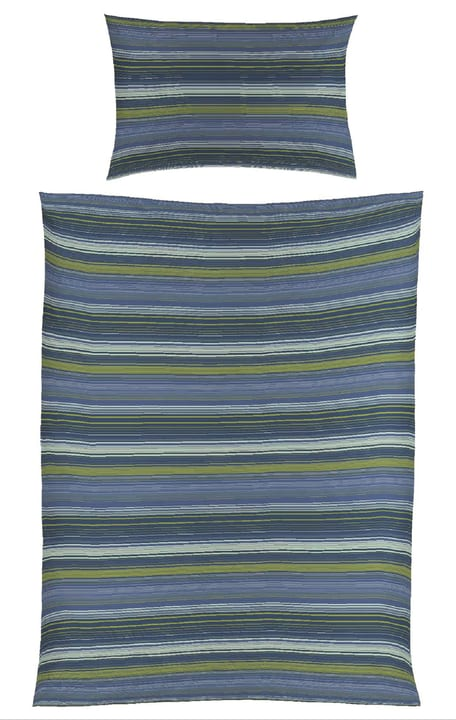 KAY Satin Bettwäschegarnitur 451249014440 Farbe Blau Grösse B: 160.0 cm x H: 210.0 cm Bild Nr. 1