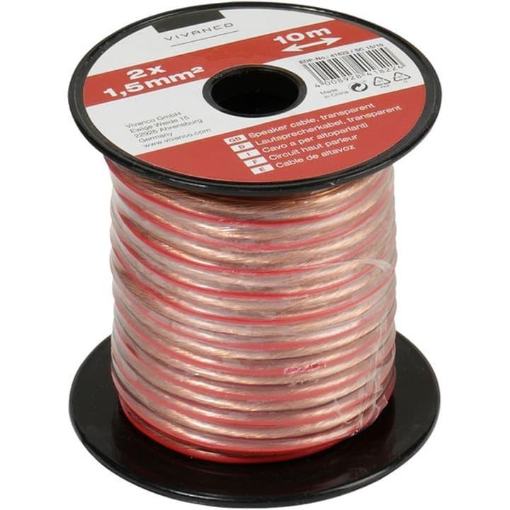 Cavo audio, cavo per altoparlante, trasparente 2x 1,5 mm², 10,0 m Cavo audio Vivanco 770816900000 N. figura 1