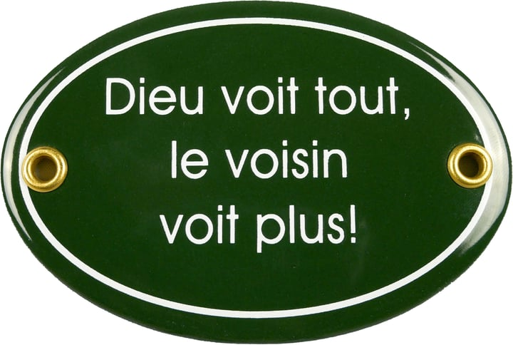 Insegna in email Dieu voit tout, le voisin 605077400000 N. figura 1