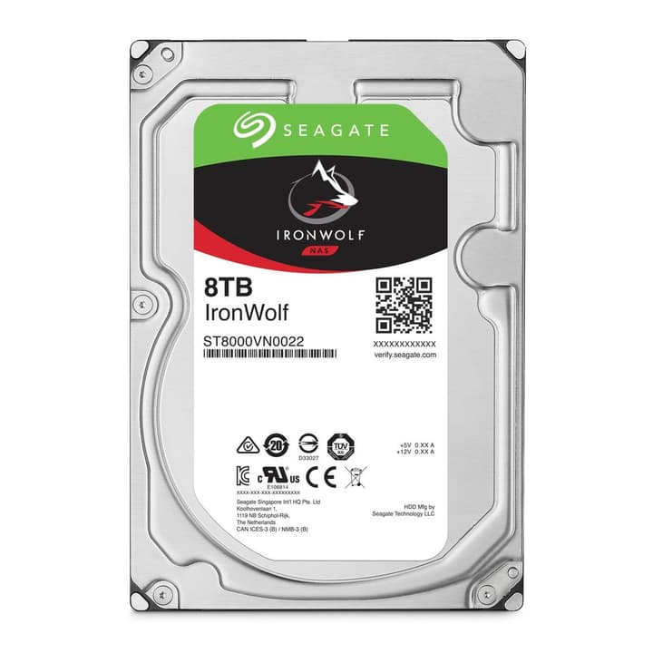 "IronWolf 8To disque dur interne SATA 3.5"" Seagate 785300126751 Photo no. 1"