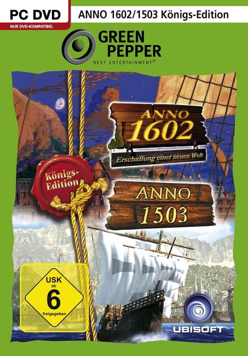 PC - Green Pepper: Anno 1503 + Anno 1602 Königsedition Physique (Box) 785300121607 Photo no. 1