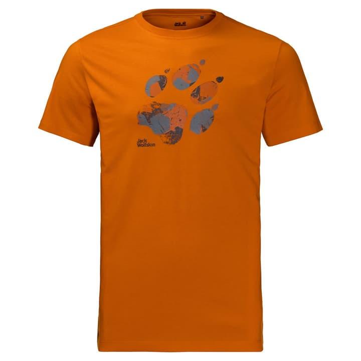 Marble Paw T men Maillot à manches courtes pour homme Jack Wolfskin 462770700334 Couleur orange Taille S Photo no. 1