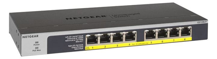 GS108LP-100EUS 8 Port Gigabit Unmanaged PoE/PoE+ Netzwerk Switch Netgear 785300138348 N. figura 1