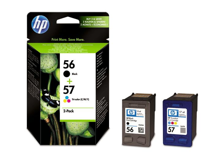 SA342AE Combopack cartuccie d'inchiostro nr. 56/57XL back/color Cartuccia d'inchiostro HP 797511900000 N. figura 1