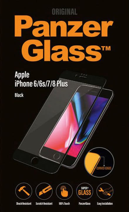 Premium iPhone 6/6s/7/8 Plus - noir Panzerglass 798615700000 Photo no. 1