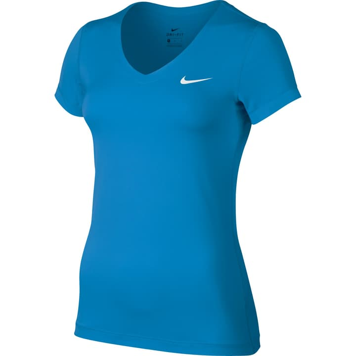 W NK TOP VCTY BSL YR VNECK Shirt pour femme Nike 464909900340 Couleur bleu Taille S Photo no. 1