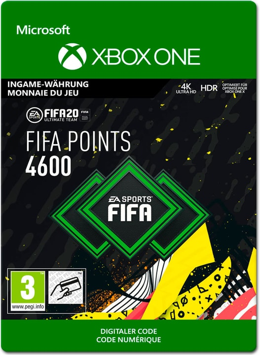 Xbox One - FIFA 20 Ultimate Team: 4600 Points Download (ESD) 785300147127 Photo no. 1