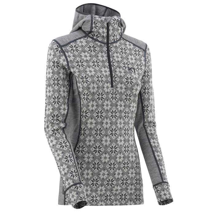 Rose Damen-Fleece mit 1/2 Zip Kari Traa 477082900380 Farbe grau Grösse S Bild-Nr. 1