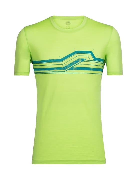Seismic Stripe Maillot à manches courtes pour homme Icebreaker 462784500662 Couleur vert neon Taille XL Photo no. 1