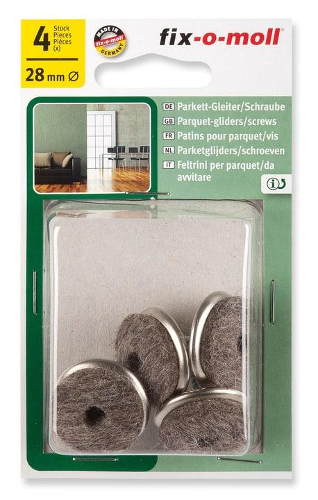 Parkettgleiter mit Schraube 5 mm / Ø 28 mm 4 x Fix-O-Moll 607073900000 Bild Nr. 1