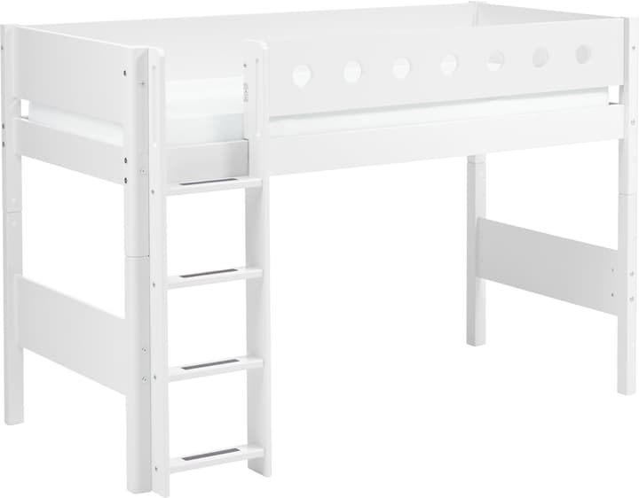 WHITE Lit demi-hauteur Flexa 404967000000 Dimensions L: 110.0 cm x P: 210.0 cm x H: 143.0 cm Couleur Blanc Photo no. 1
