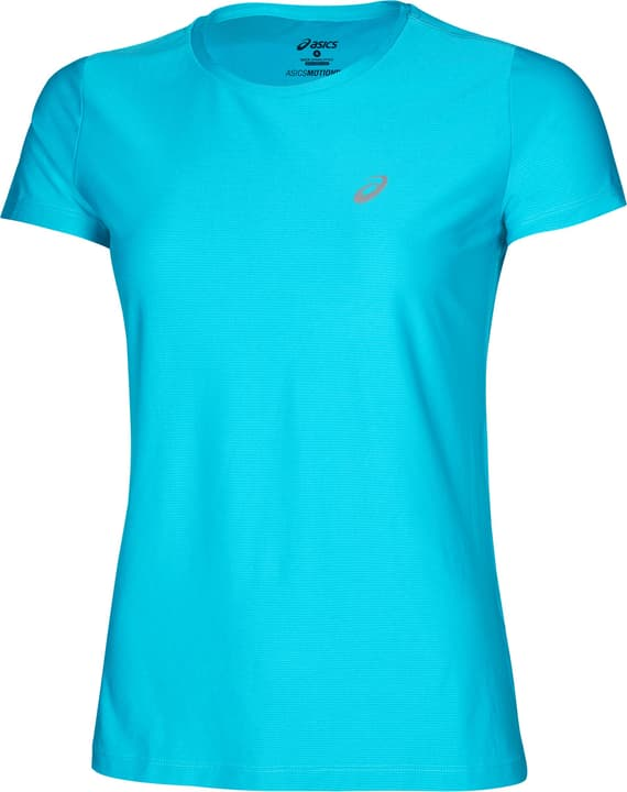 SS Top Shirt pour femme Asics 470426100344 Couleur turquoise Taille S Photo no. 1