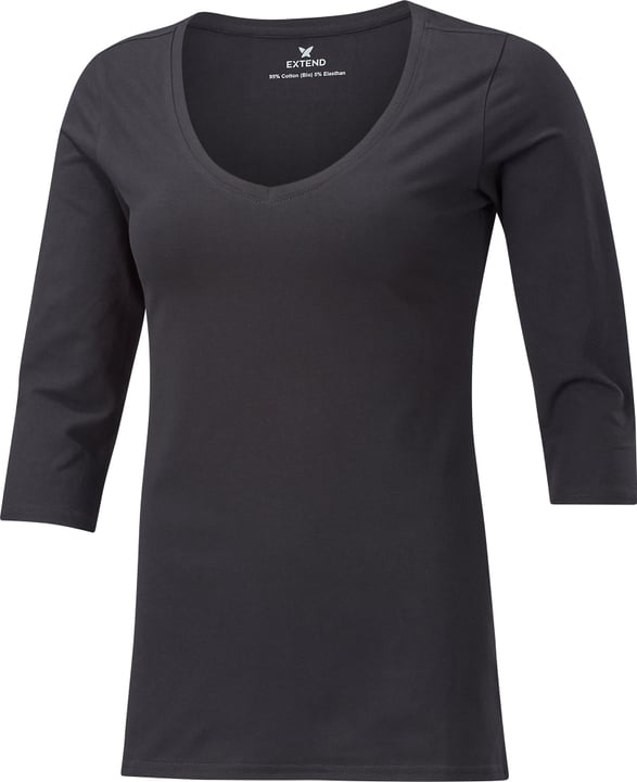 3/4 SLEEVE V-NECK Damen-3/4-Shirt Extend 462409200420 Farbe schwarz Grösse M Bild-Nr. 1