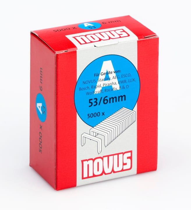 Agrafes en fil fin A Typ 53/6 NOVUS 601256200000 Taille 6 mm / 5'000x Photo no. 1