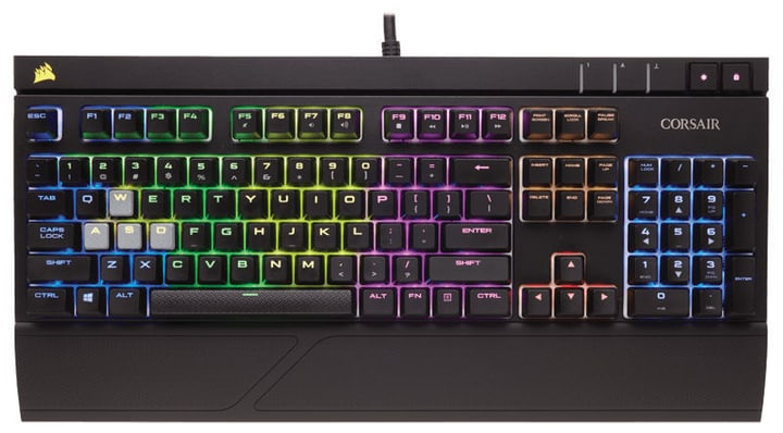 STRAFE RGB LED Cherry MX Silent Corsair 785300129249 Photo no. 1