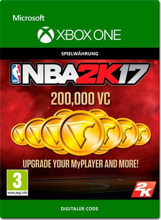 Xbox One - NBA 2K17: 200'000 VC Download (ESD) 785300137380 N. figura 1
