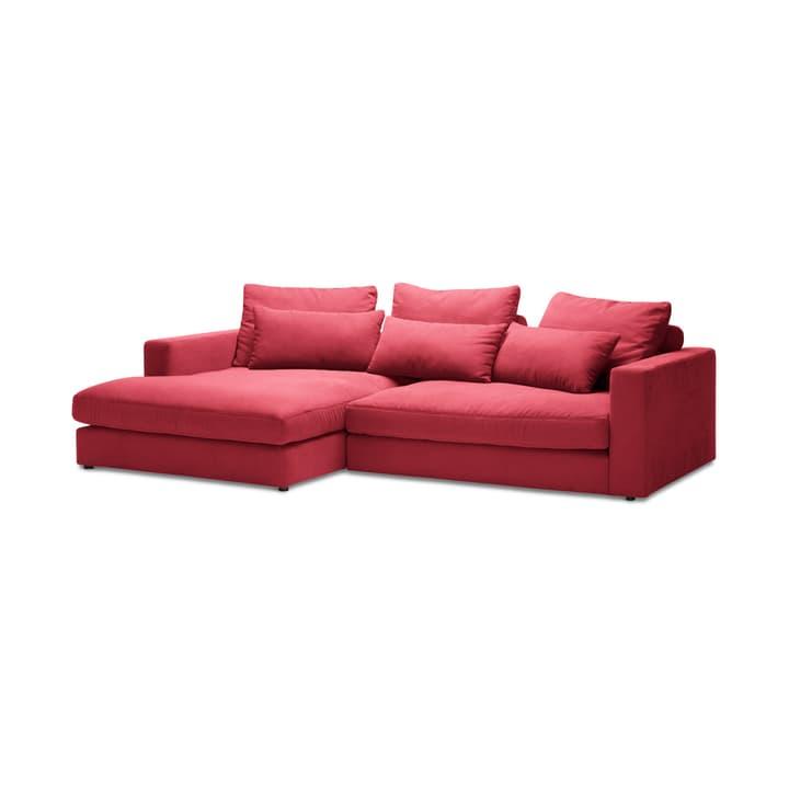 DARWIN Canapé d'angle Rec/2pl 360444250132 Dimensions L: 269.0 cm x P: 170.0 cm x H: 78.0 cm Couleur Rouge Photo no. 1