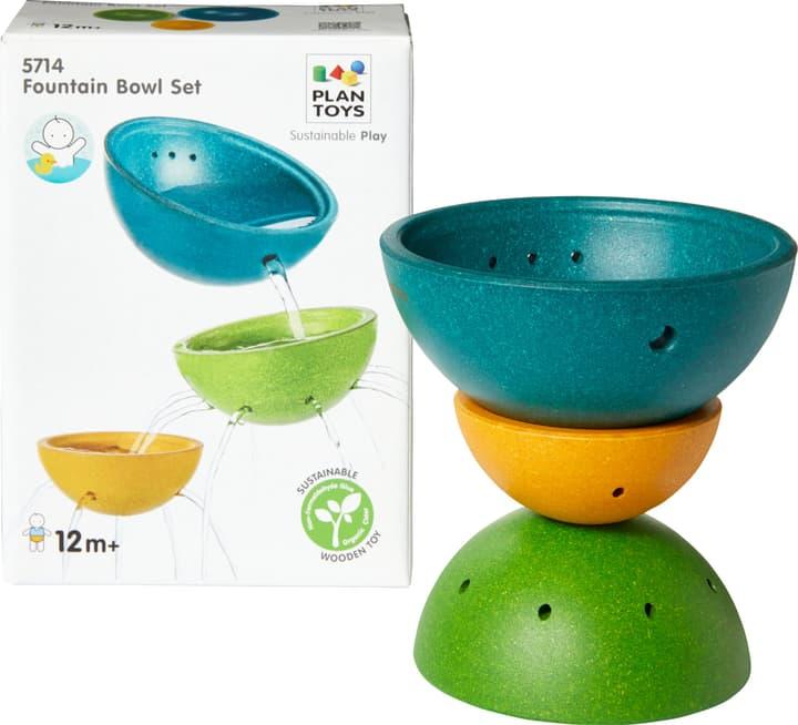 WATER PLAY Set di ciotole - fontana Plan Toys 404730702495 Dimensioni A: 6.0 cm Colore Verde N. figura 1