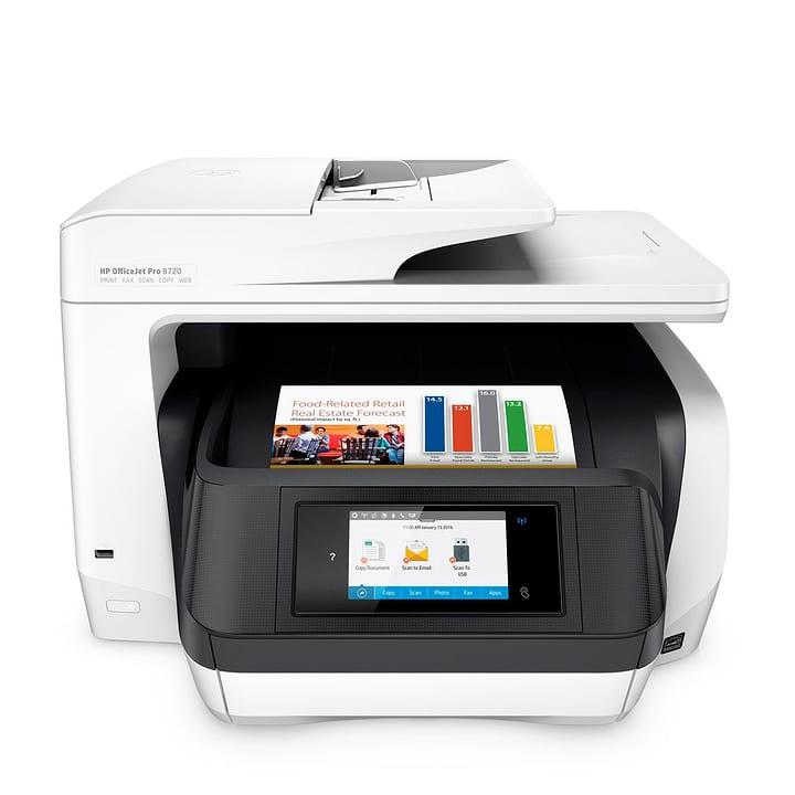 OfficeJet Pro 8720 e-AiO Stampante / scanner / fotocopiatrice / fax HP 797276000000 N. figura 1