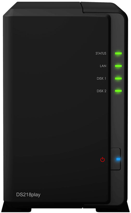 DiskStation DS218play avec 2x 4 To WD Red HDD Network-Attached-Storage (NAS) Synology 785300131309 Photo no. 1