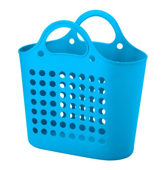 Petite corbeille à linge souple Do it + Garden 675133700000 Couleur Turquoise Photo no. 1