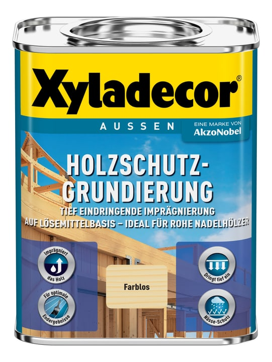 Holzschutzgrundierung, Lösemittelhaltig  750 ml XYLADECOR 661777000000 Bild Nr. 1