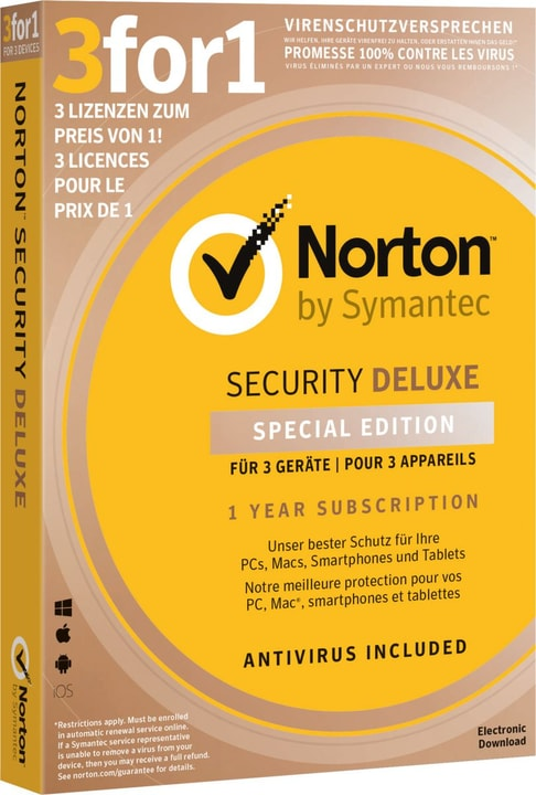 Security Deluxe 3.0 3for1 Device Edition Physisch (Box) Norton 785300139254 Bild Nr. 1
