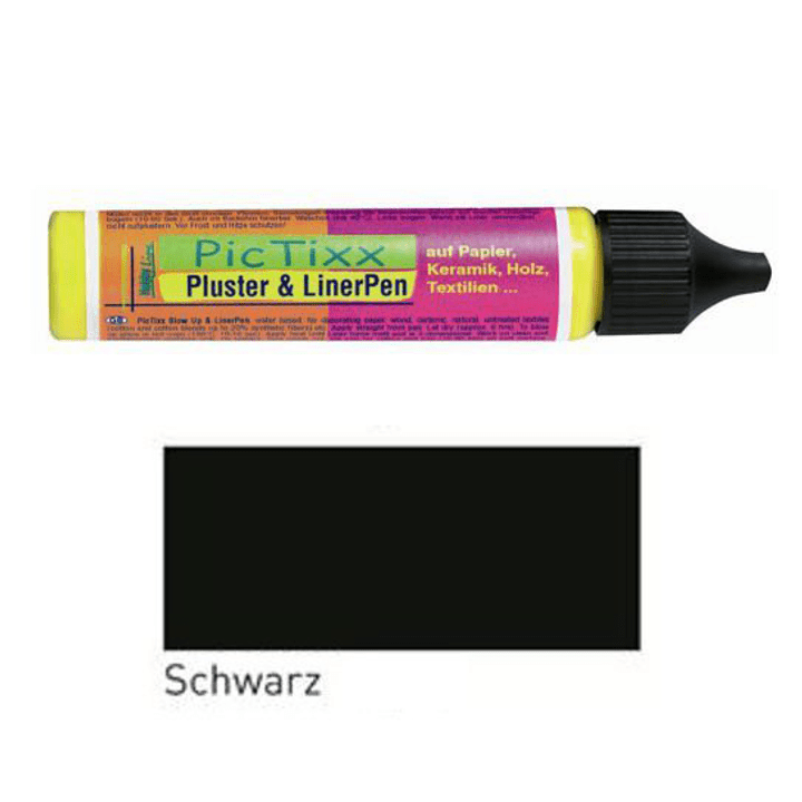 Pluster & Liner Pen C.Kreul 664802200016 Colore Nero N. figura 1