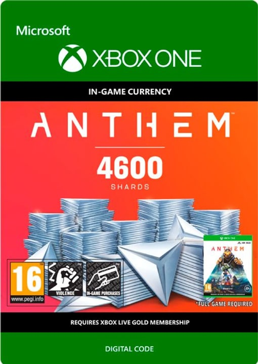 Xbox One - Anthem: 4600 Shards Pack Download (ESD) 785300142796 N. figura 1
