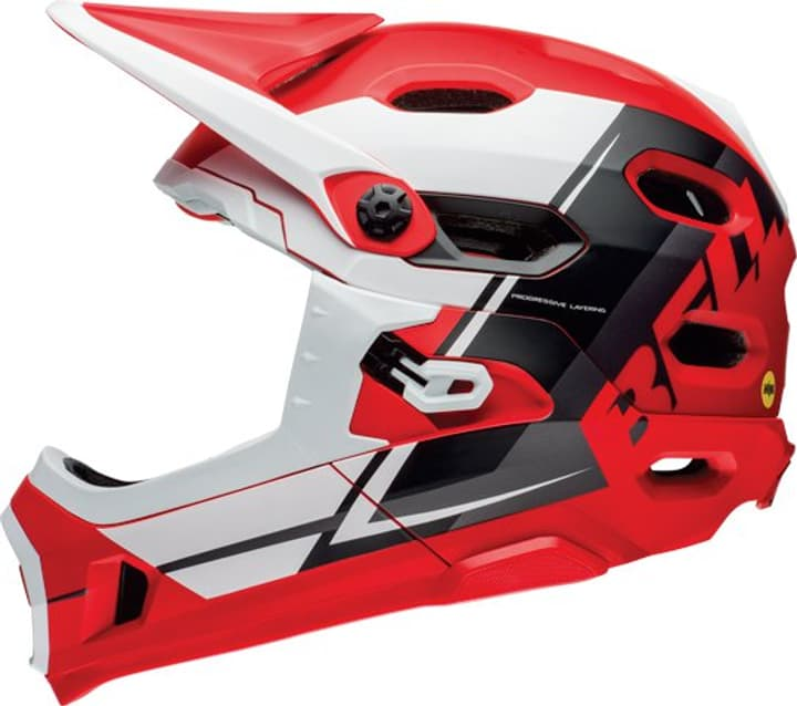 Super DH Casque de velo Bell 465009455130 Couleur rouge Taille 55-59 Photo no. 1