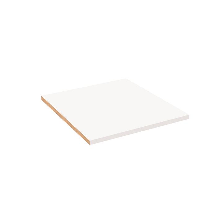 MILO Tablare klein verschraubbar 364051508103 Grösse B: 48.5 cm x T: 53.0 cm x H: 2.2 cm Farbe Weiss Bild Nr. 1