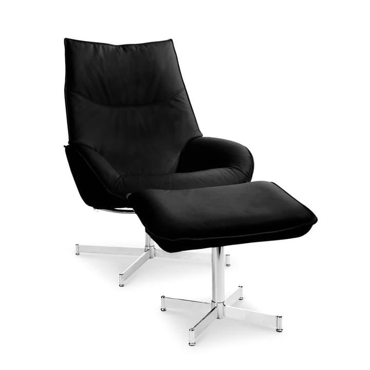 DAHLIA fauteuil et repose-pieds 360010347407 Dimensions L: 73.0 cm x P: 87.0 cm x H: 104.0 cm Couleur Noir Photo no. 1