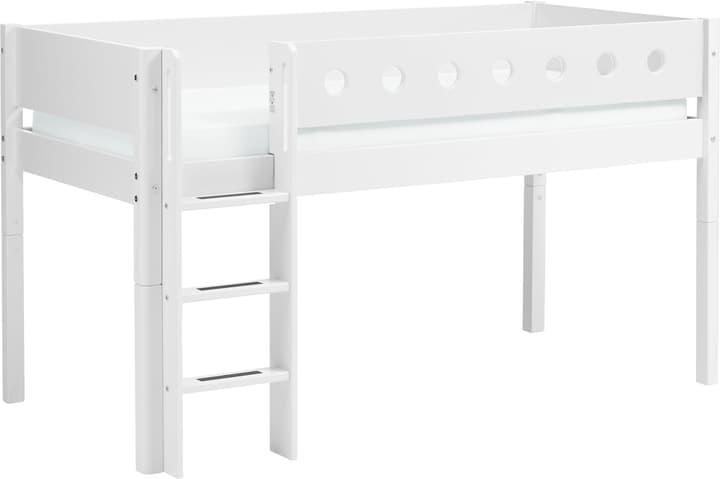 WHITE Halbhochbett Flexa 404912100000 Grösse B: 109.0 cm x T: 210.0 cm x H: 120.0 cm Farbe Weiss Bild Nr. 1