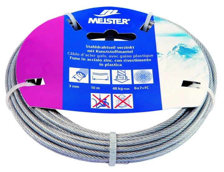 Stahldrahtseil verzinkt mit Kunststoffmantel Meister 604726500000 Grösse 2-3 mm x 10 m Bild Nr. 1