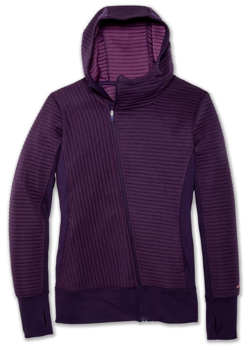 Fly-By Hoodie Veste pour femme Brooks 470191100545 Couleur violet Taille L Photo no. 1