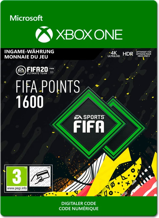 Xbox One - FIFA 20 Ultimate Team: 1600 Points Download (ESD) 785300147125 Photo no. 1