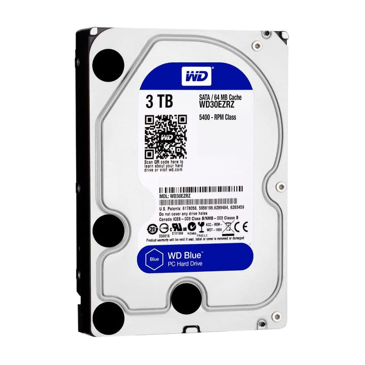 "Blue 3TB SATA 3.5"" HDD Intern Western Digital 785300126642 Bild Nr. 1"