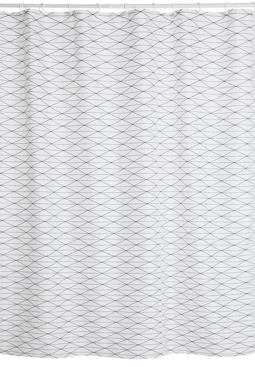 PRISCO Tenda da doccia 453151253510 Colore Bianco Dimensioni L: 180.0 cm x A: 200.0 cm N. figura 1