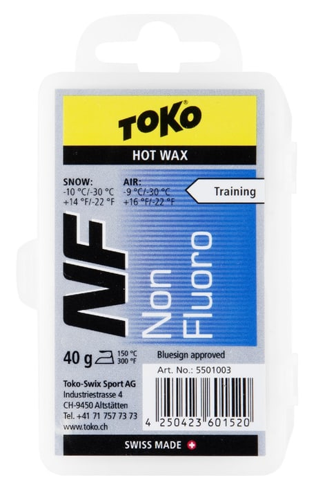 NF Hot Wax blue 40 gr. Fart hydrocarboné Toko 494779500000 Photo no. 1