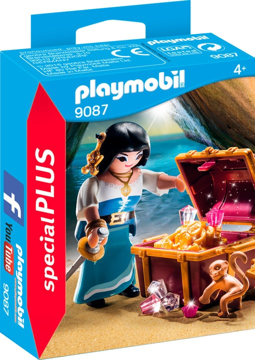 Playmobil Special Plus Piratessa con tesoro 9087 746076700000 N. figura 1