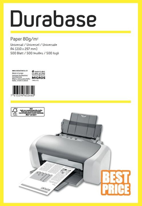 Paper Universal A4 80g, 500 Blatt Durabase 796074500000 Bild Nr. 1