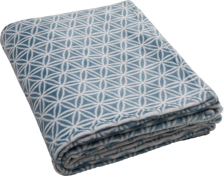 SAMANTA Coperta 451652043340 Dimensioni L: 150.0 cm x A: 200.0 cm Colore Blu N. figura 1