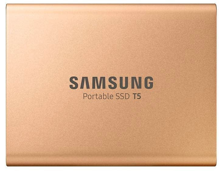 Portable SSD T5 500 Go Gold SSD externe Samsung 785300144524 Photo no. 1