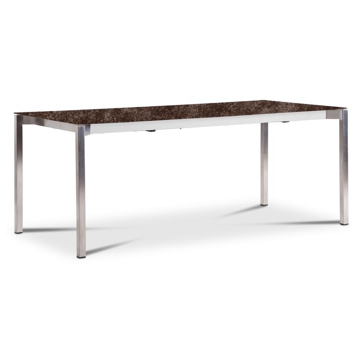 LUZON Table àrallonge 368071800000 Dimensions L: 190.0 cm x P: 90.0 cm x H: 75.0 cm Couleur Bronze Photo no. 1