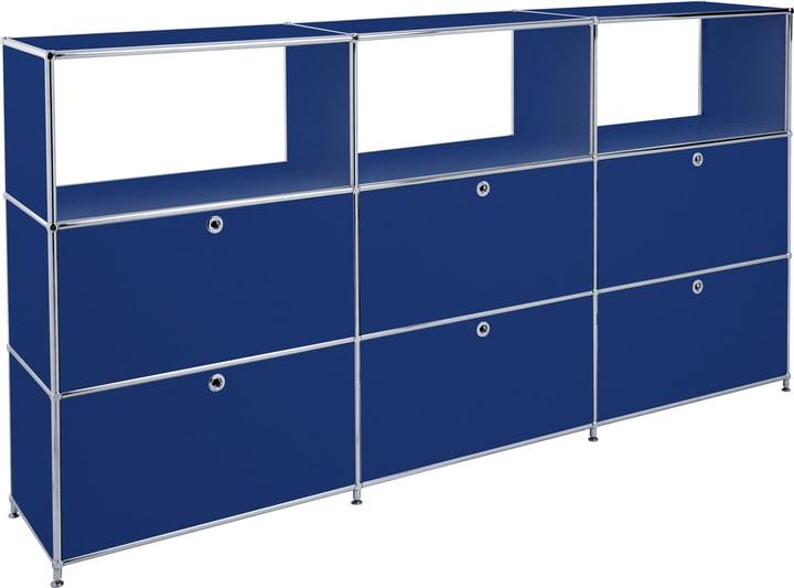 FLEXCUBE Buffet haut 401814930340 Dimensions L: 227.0 cm x P: 40.0 cm x H: 118.0 cm Couleur Bleu Photo no. 1