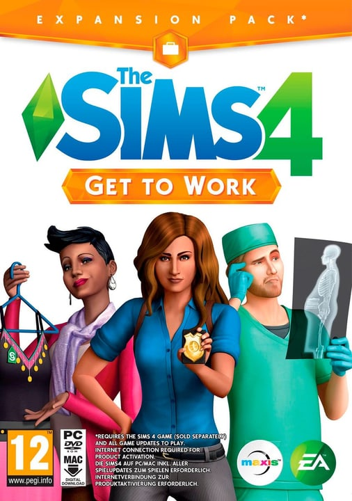 PC - The Sims 4 Get to Work Box 785300119652 N. figura 1