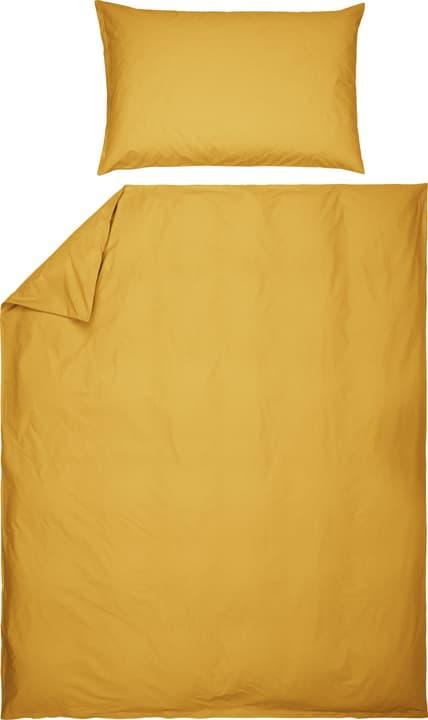 ROMANO Fourre de duvet en percale 451192612350 Couleur Jaune Dimensions L: 160.0 cm x H: 210.0 cm Photo no. 1