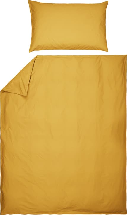 ROMANO Taie d'oreiller en percale 451192610850 Couleur Jaune Dimensions L: 70.0 cm x H: 50.0 cm Photo no. 1